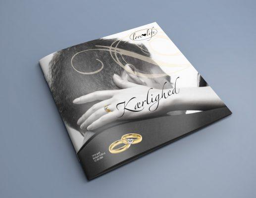 layout rentegning love bryllup vielsesringe smykkekatalog sort/hvid love